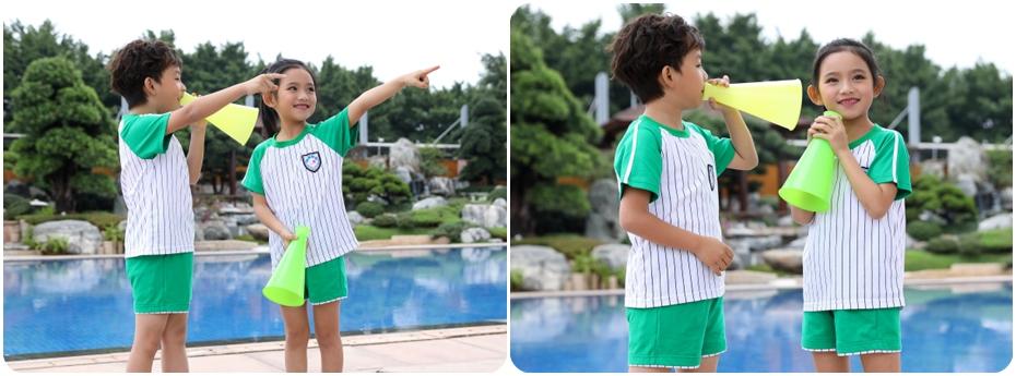 夏季运动款幼儿园服展示