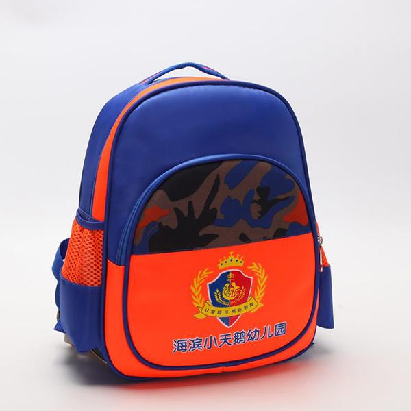 双肩蓝色+橙色幼儿书包723