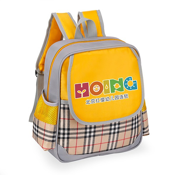 苏格兰条纹幼儿书包