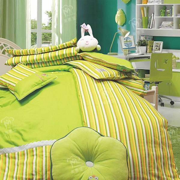 时尚一族彩条纹绿