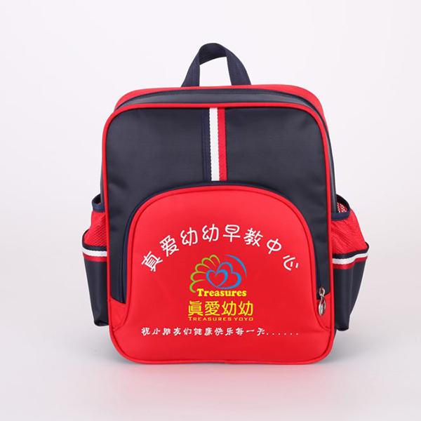 双肩黑色+红色幼儿书包